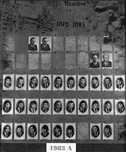 SLŠ - rok ukončení 1983 třída A